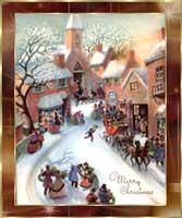 Nostalgische Weihnachtsbilder.Weihnachtskarten Nostalgie